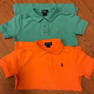 *Bundle* Orange Mint Ralph Lauren Polo Shirts Sz 7